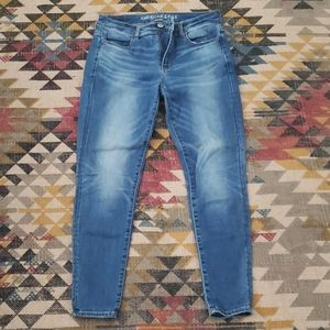 Jean's. Wash american eagle skinny jeans
